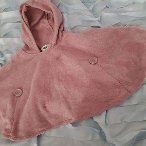 Little girl fleece poncho